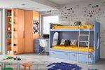 Проект на детска стая с двуетажни легла за едно дете София